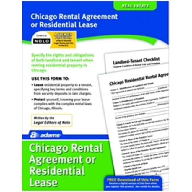 Adams LF310-CHI Residential Lease Form for the City of Chicago
