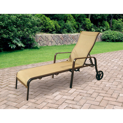 Mainstays Square Tile Sling Chaise Lounge