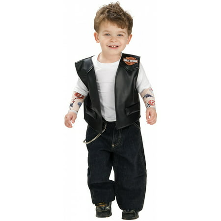 Lil' Biker Boy Harley Davidson Toddler Costume - Toddler - Harley Davidson Biker Girl Halloween Costume