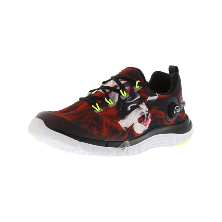 - Reebok Men's Z Pump Fusion Flame Black / Red White Yellow Ankle-High Fabric Running Shoe - 6.5M