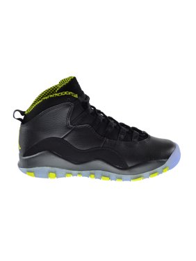 Product Image Air Jordan Retro 10 (GS) Big Kids Shoes Black Venom Green-Cool bbbf59e3d