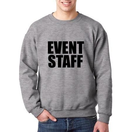 Trendy USA 1282 - Crewneck Event Staff Coordinator Employee Volunteer Helper Sweatshirt 3XL Heather Grey