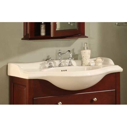 "Empire Industries Bathroom Vanity Top C / S Size/Finish/Configuration: 22""/Capri Biscuit/1"" hole"