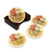 Words to Live By Coasters - Set of 4
