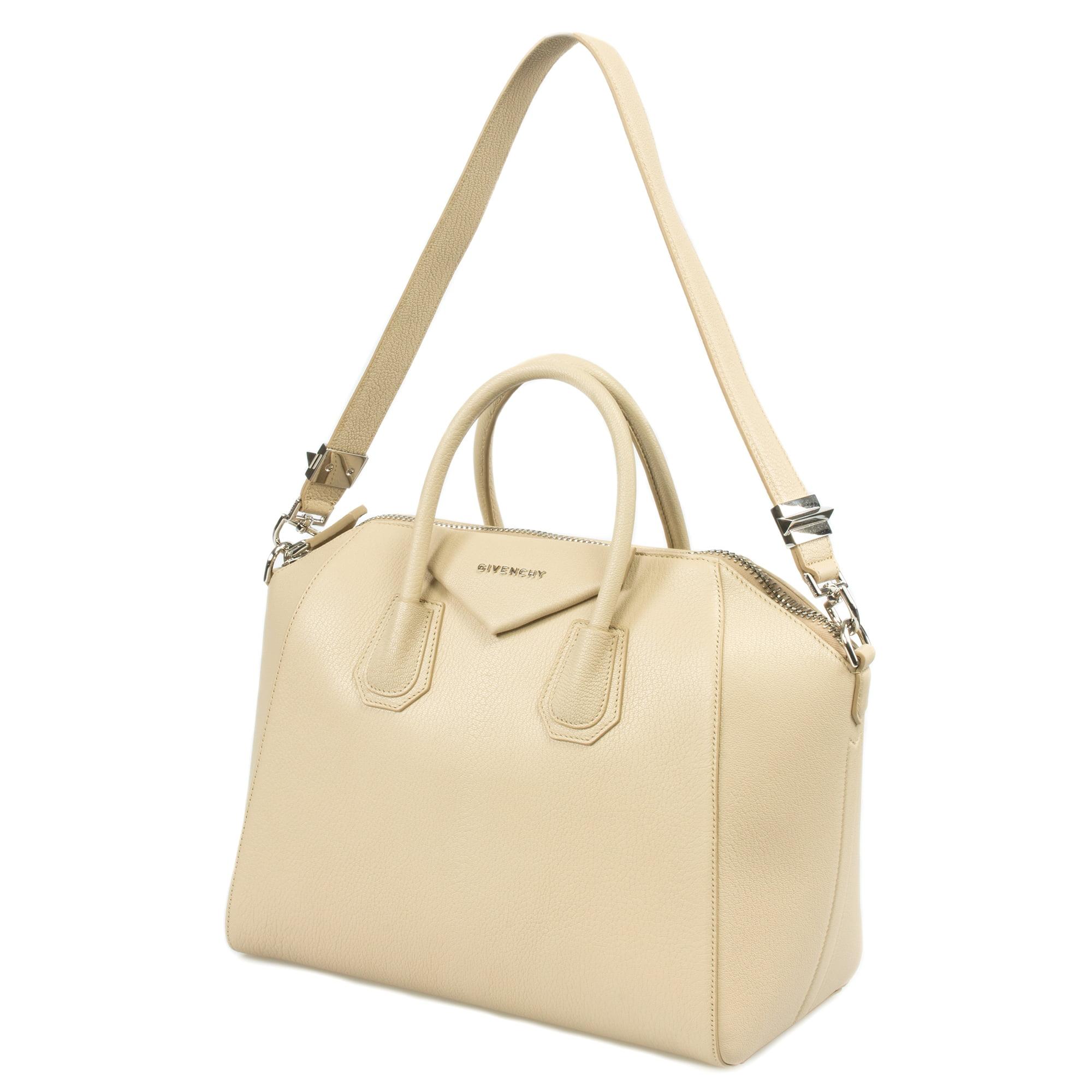 2b349cd8a1 ... Givenchy Antigona Sugar Goatskin Satchel Bag Beige w Silver Hardware  Medium - Walmart.com factory ...