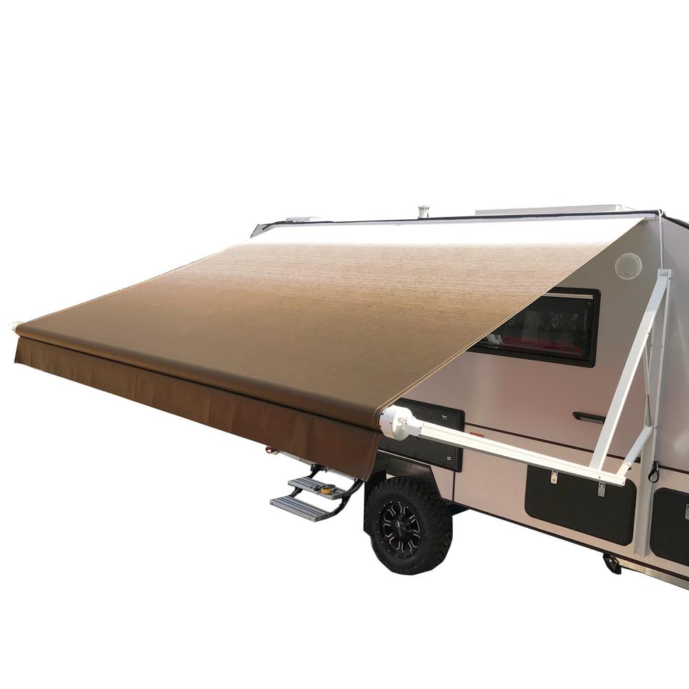 ALEKO Motorized Retractable RV/Patio Awning - 10 x 8 Feet - Brown Fade
