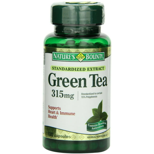 Nature's Bounty Green Tea Extract 315 mg Capsules 100 ea (Pack of 3)