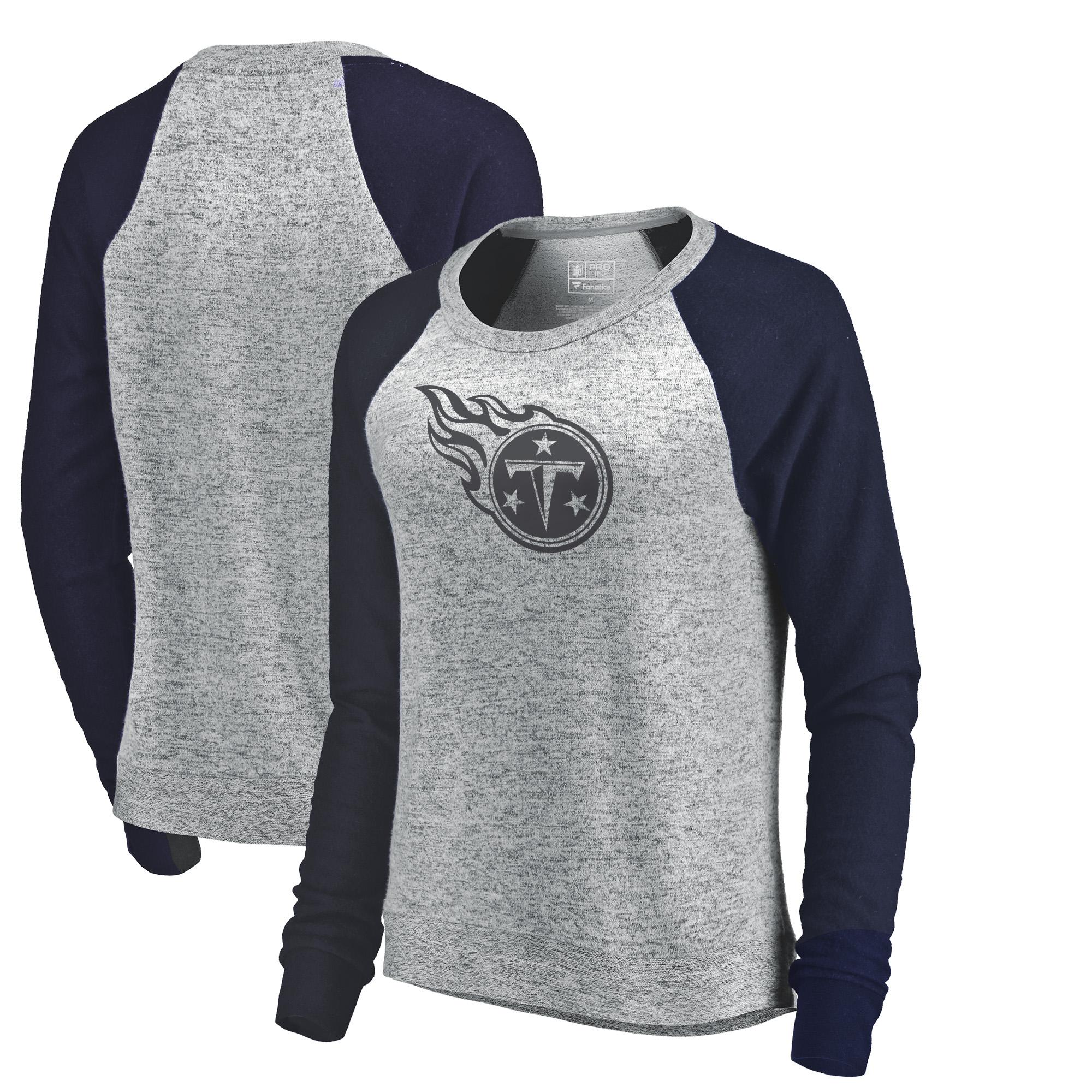 Tennessee Titans NFL Pro Line by Fanatics Branded Women's Cozy Collection Plush Crew Sweatshirt - Ash