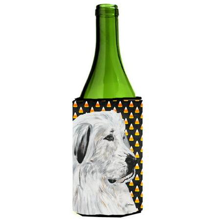 Great Pyrenees Candy Corn Halloween Wine Bottle Beverage Insulator Hugger SC9666LITERK](Painted Wine Bottles Halloween)