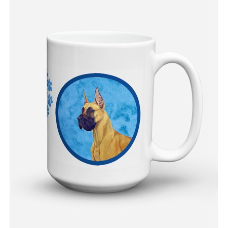 Great Dane Dishwasher Safe Microwavable Ceramic Coffee Mug 15 ounce
