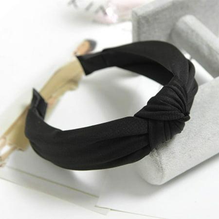 Womens Headband Twist Hairband Bow Knot Cross Tie Velvet Headwrap Hair Band Hoop