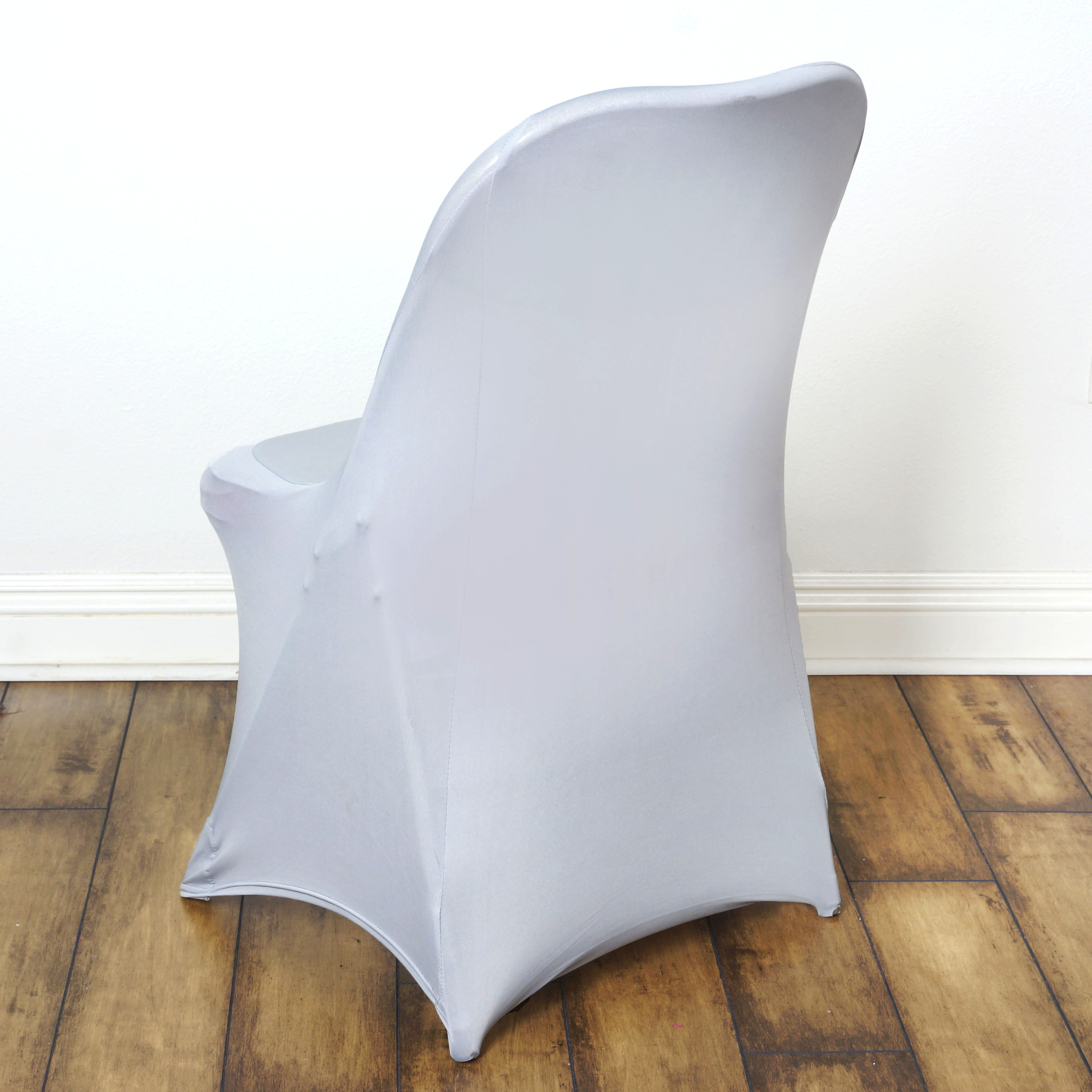 Balsacircle Spandex Stretchable Folding Chair Covers Slipcovers For