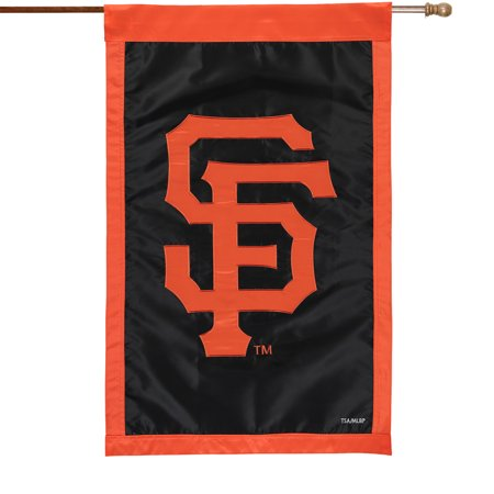 """San Francisco Giants 28"""" x 44"""" Applique Double-Sided House Flag - No Size"""