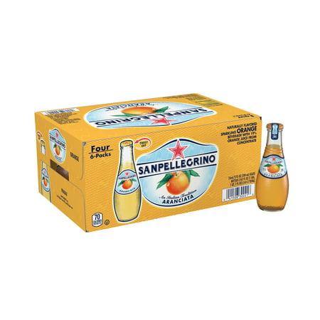 Mini Sparkling Cider Bottles ((24 Bottles) SANPELLEGRINO Sparkling Beverage, Aranciata Orange, 6.8 fl)