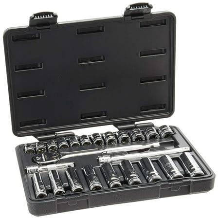 GearWrench 80559 24-Piece 3/8-Inch Drive Metric Socket Set (Standard/Deep) ()