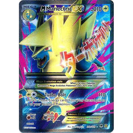 Pokemon Promo Mega Manectric-EX XY24a](Ex On The Beach Promo)