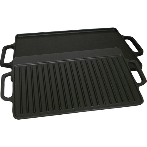 "King Kooker Pre-Seasoned 15.75"" Cast Iron 2-Sided Griddle"