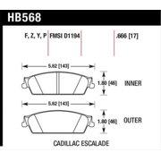 Hawk 07-08 Escalade 6.2 / 07-08 Avalanche Super Duty Rear Brake Pads