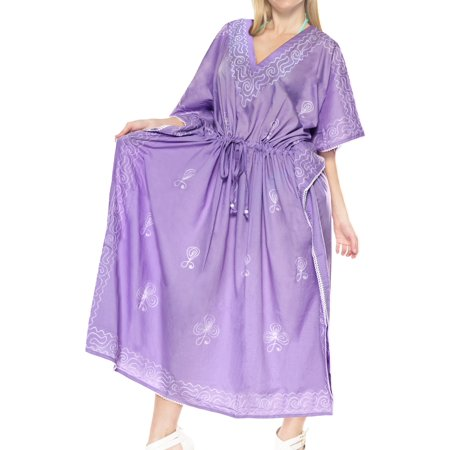 c3df6854da1e HAPPY BAY - Hawaiian Designed Womens Caftan Party Boho Evening Gown Mini  Short Tunic Dress Kaftan For Women - Walmart.com