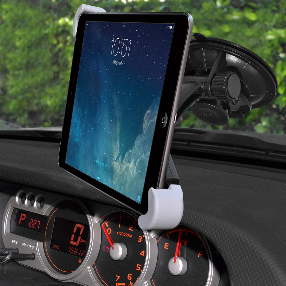 Tablet Mount, Universal Windshield, Dash or Console Mount for 7 - 11 inch Tablets - Black