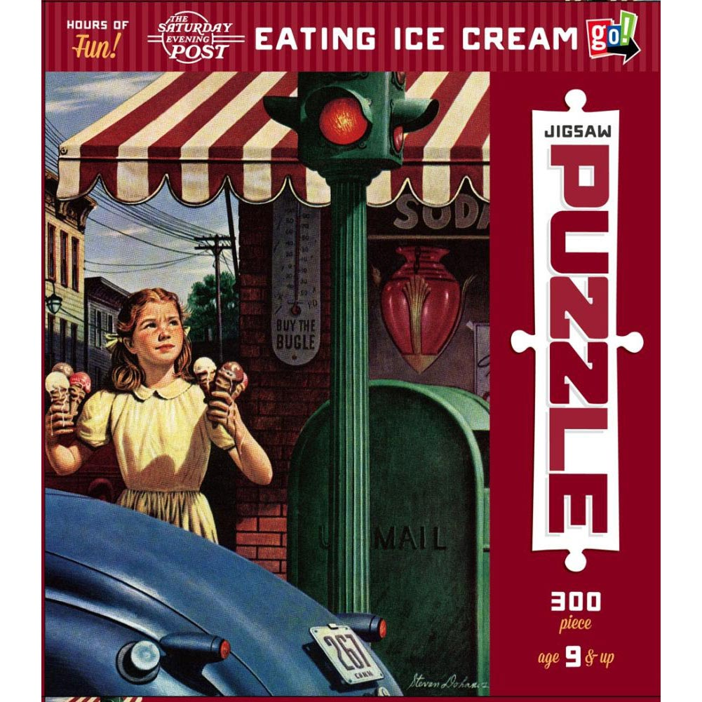 Eating Ice Cream 300 Piece Puzzle,  Food Art by Go! Games