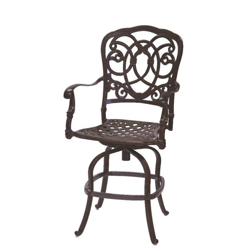 Darlee Florence Swivel Patio Counter Stool with Cushion (Set of 2)