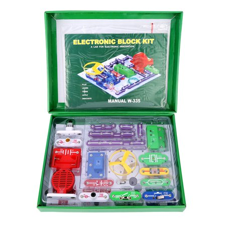 Virhuck W-335 Electronics Discovery Kit DIY Blocks Funny Educational Circuits Science Educational Toy for children over 8 yrs - Circuit Toys