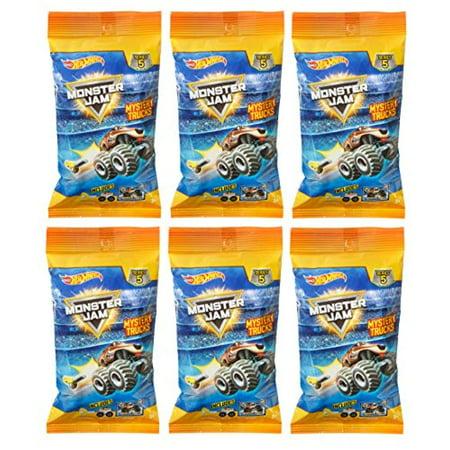 Hot Wheels Monster Jam Minis Truck Mystery Series 5 (6 Packs) MonsterJam (Mini Monster)