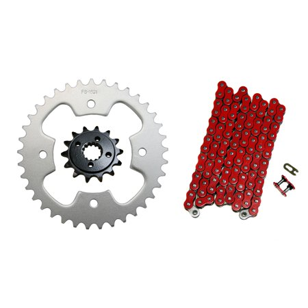 Factory Spec, K16571691520NZR94, Red 520x94 Drive Chain & 14/37 Sprockets 2003-2004 Polaris Predator 500