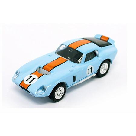 1965 Ford Shelby Cobra Daytona Coupe, Light Blue w/ Orange - Lucky Road Signature 94242LBU - 1/43 Scale Diecast Model Toy