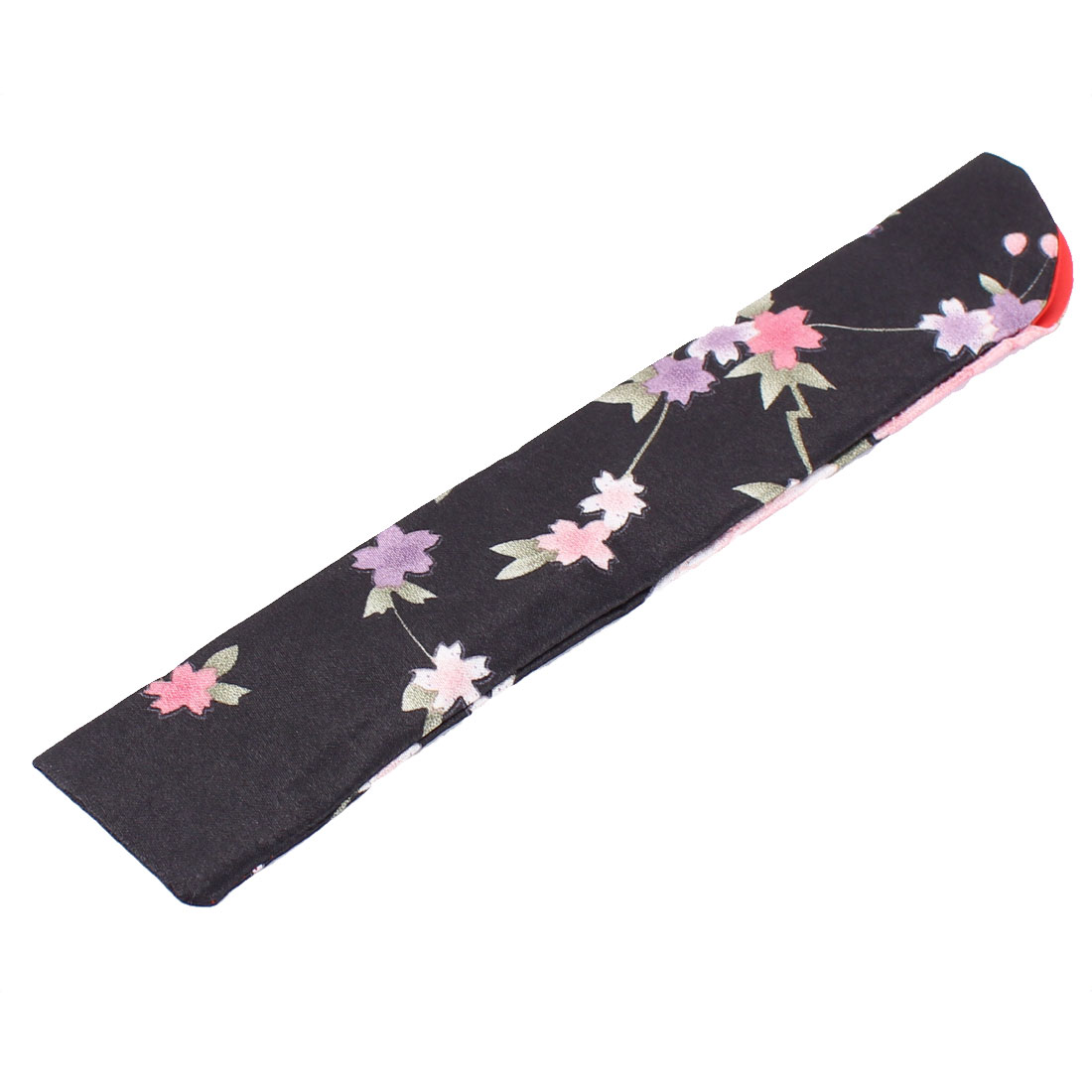 Smooth Silk Blend Floral Pattern Classic Feeling Fan Pouch Red - image 2 de 3