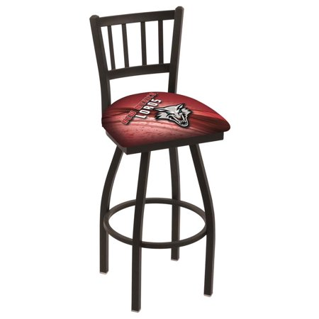 New Mexico 25 Inch L018 Black Wrinkle With Jailhouse Back Bar Stool