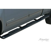 "Raptor Series 99-15 Ford F-250/F350 Super Duty Crew Cab (6.5' Bed); 00-14 Ford F-350 Super Duty Crew Cab (8' Bed, Dually) 6"" Black W2W Oval Steps"