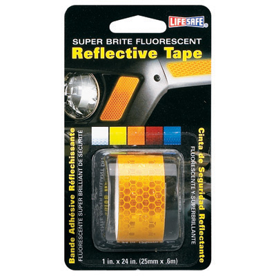 Incom Manufacturing RE184 1 x 24 in. Fluorescent Reflective Tape, Yellow