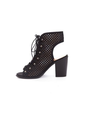 864a1d117f2b0 Product Image Soho Shoes Women's Lace Up Perforated Shootie Boots