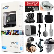GoPro HERO+ LCD Camera Camcorder (CHDHB-101) with Starter Accessories Kit includes 32GB Card + Home & Car Charger + Head Helmet Strap + Hand Glove + Flexible Octopus Tripod + Dust Cleaning Kit + More