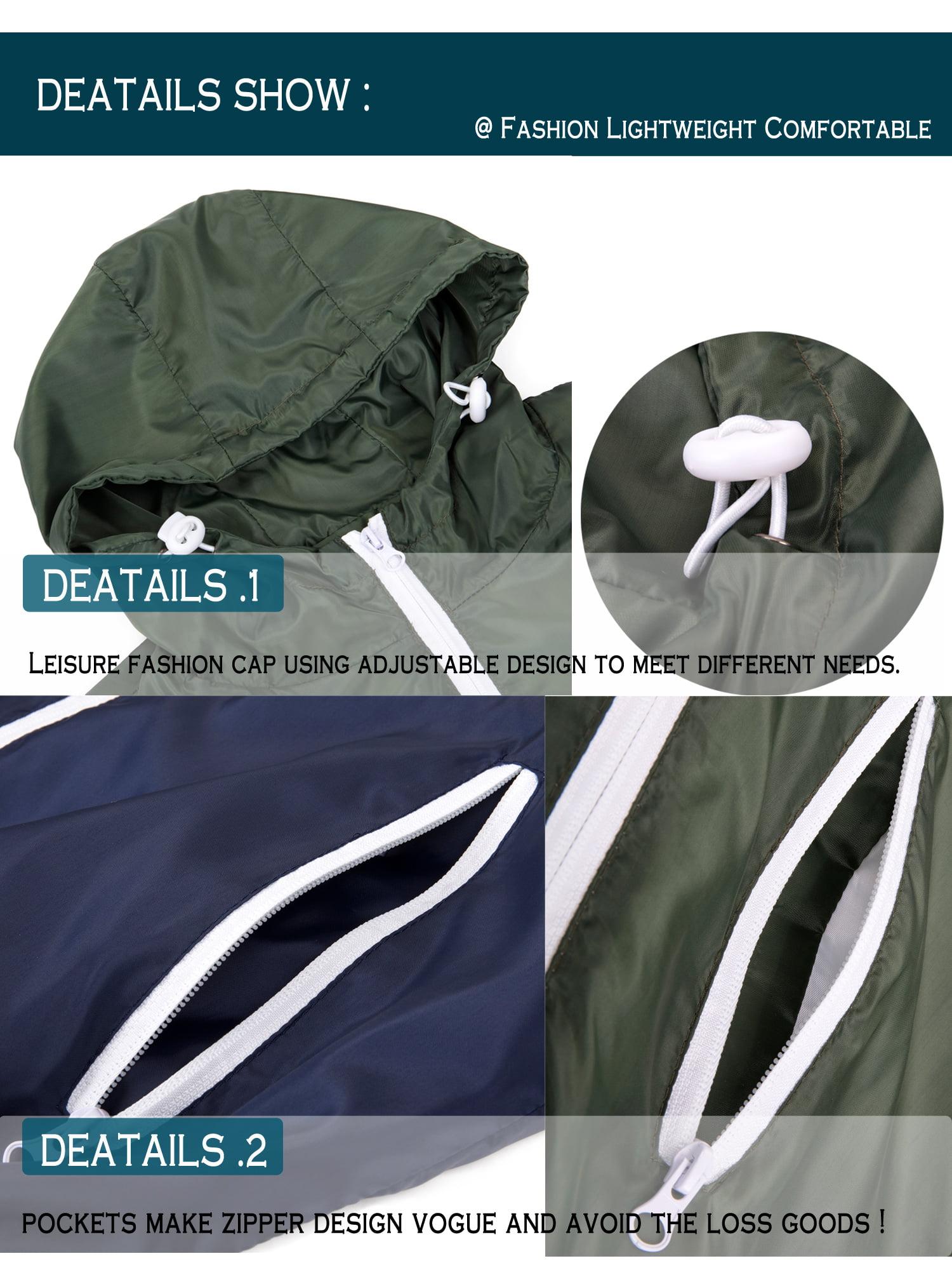 73f651516 Lelinta - LELINTA Mens Hooded Waterproof Windbreaker Rain Jacket  Comfortable Men Leisure Outwear(L-3XL to Choose) Green - Walmart.com