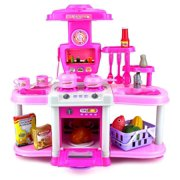 VT Fashion Kitchen Station Children's Toy Cooking Play Set w/ Toy Food, Utensils, Lights & Sounds, Perfect for Your Little Chef