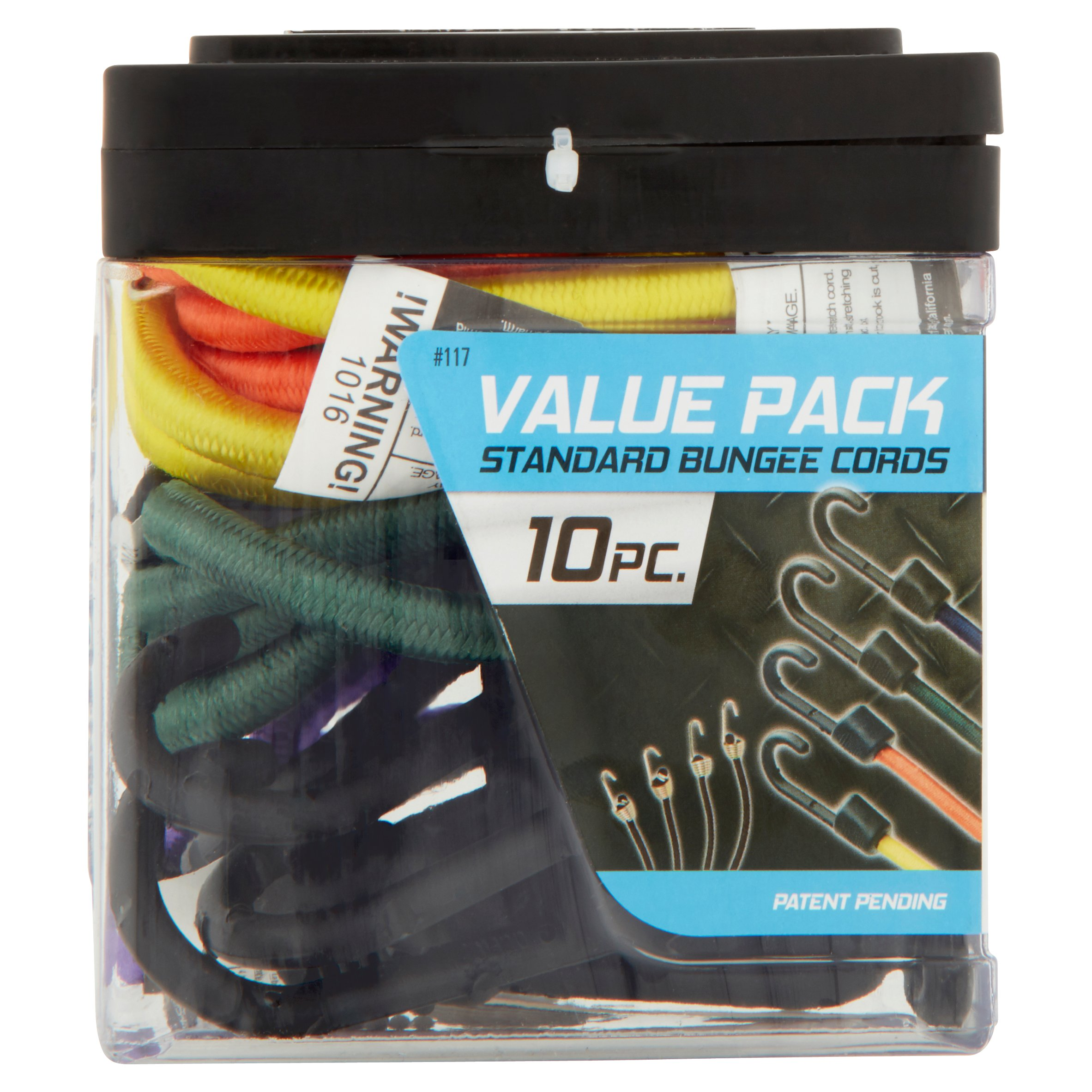 SmartStraps Standard Bungee Cords Value Pack, 10 count