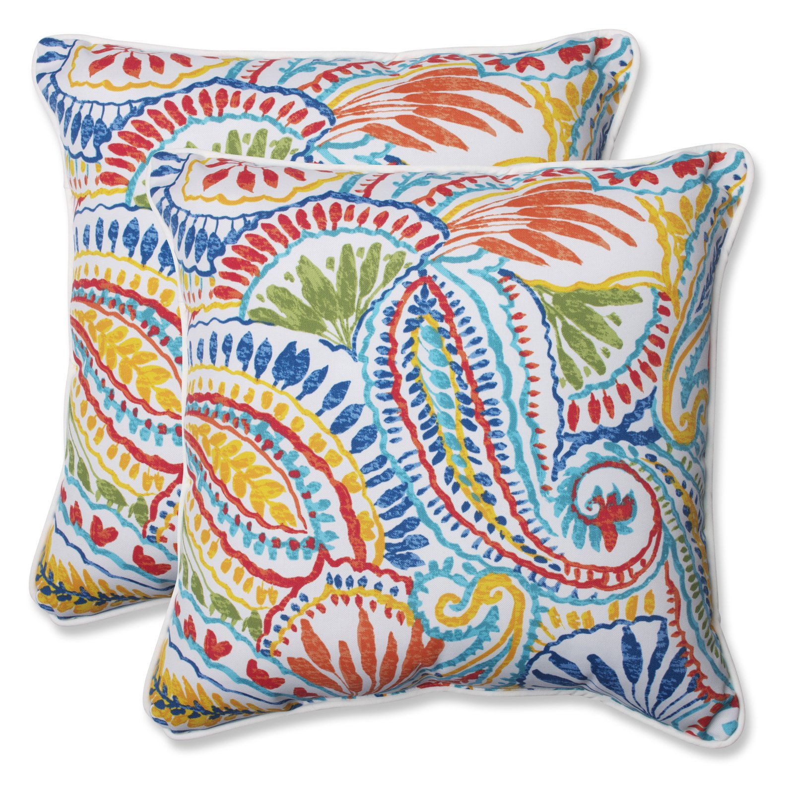 Pillow Perfect Outdoor/ Indoor Ummi Multi 18.5-inch Throw Pillow (Set of 2)