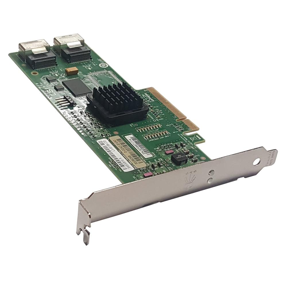 Lot of 5 LSI SAS3081E-R 8-port Internal SATA/SAS 3Gb/s RAID Controller Card Refurbished