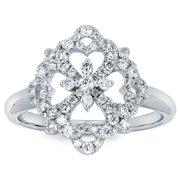 Boston Bay Diamonds 14k White Gold and 3/8ct TDW Diamond Fashion Ring (I-J, I1-I2) Size 6.5
