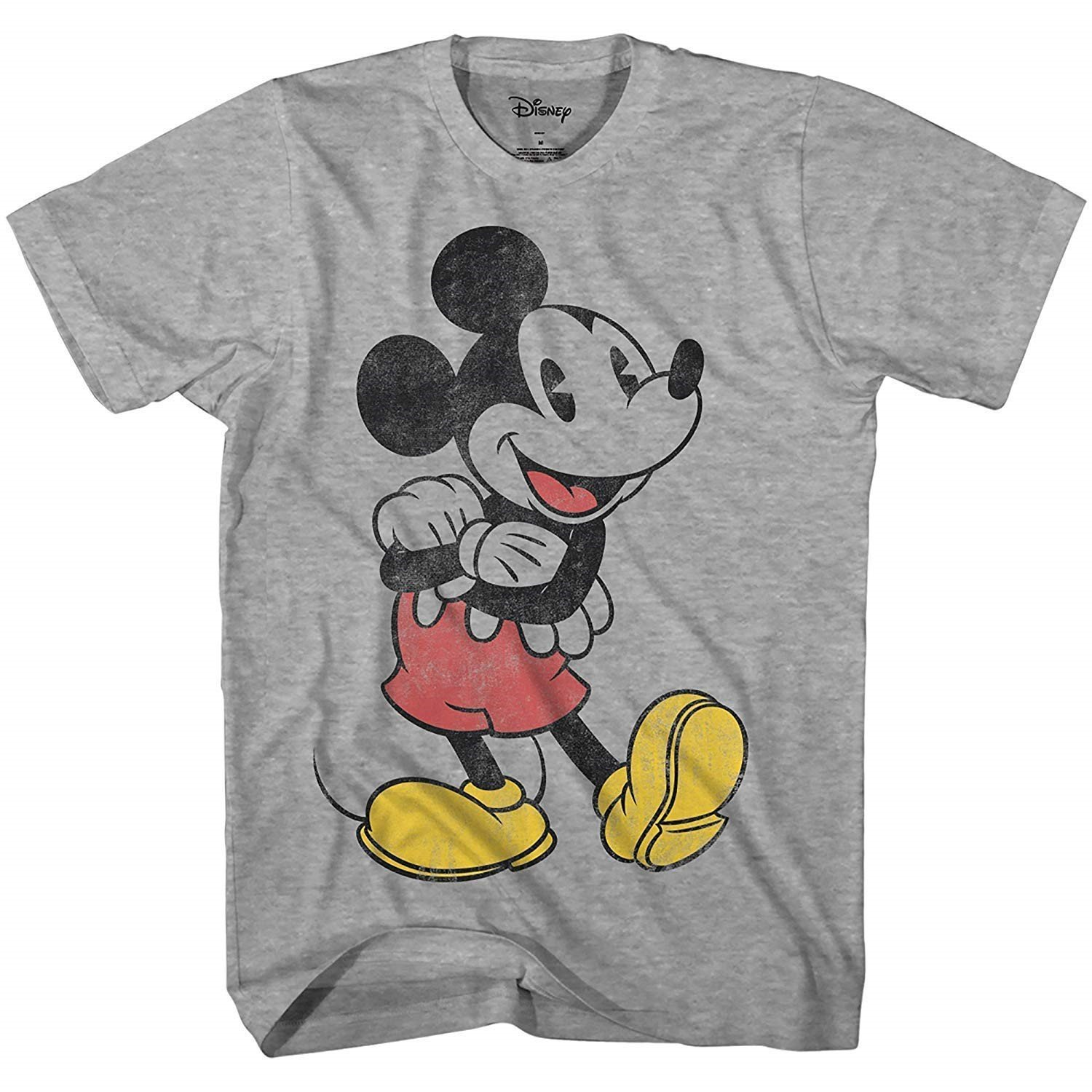 Disney Mickey Mouse Lean Forward Disneyland World Retro Classic Vintage Tee Funny Humor Adult Mens Graphic T-Shirt Apparel