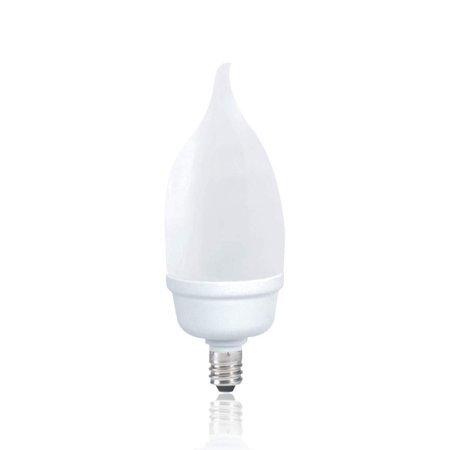 Luxrite LR22057 (10-Pack) 9-Watt CFL Candle Flame Tip Bulb, Equivalent To 40W Incandescent, Cool White 4100K, 450 Lumens, E12 Candelabra Base