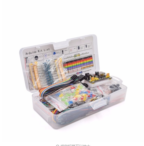 Kit Breadboard 830 Tie Points Jumper Wire Pack Power Supply LED Resistor 59:14