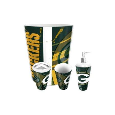 Green Bay Packers Nfl 4 Piece Bathroom Decorative Set Ter Series