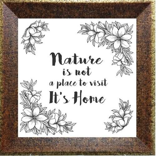 PTM Images 'Nature It's Home' Framed Print