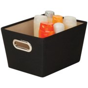 Honey Can Do Small Decorative Storage Bin with Handles, Multicolor