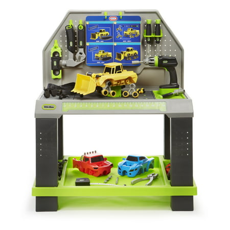 Little Tikes Construct n Learn Smart Workbench w/40+ Piece Accessory Set