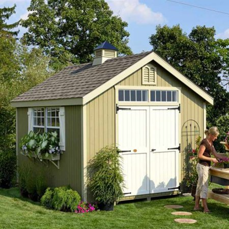 little cottage 8 x 10 ft williamsburg colonial panelized garden shed - Garden Sheds 8 X 16